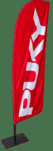 Beachflag indoor doppelseitig blickdicht