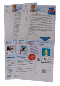 Personalisierte Deckblätter für Zeitungen